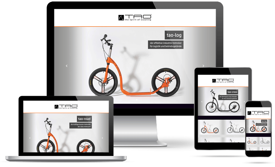 Webdesign Lohmann | modern webdesign - Bild Referenz Tao Tretroller - Winterlingen